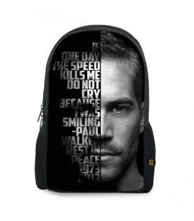 speed kills printed backpacks